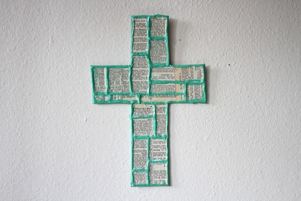 enfeite de parede com material reciclável