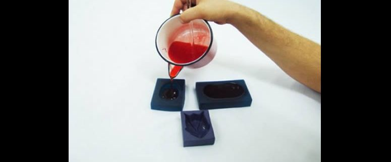 forma de sabonete caseiro