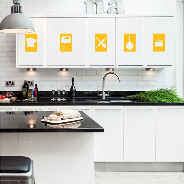 decoração de armário de cozinha