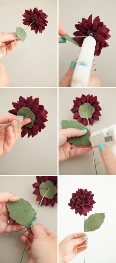 dica para fazer flor dália em feltro