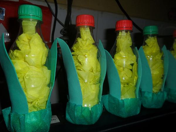 milho de garrafa de água para festa junina