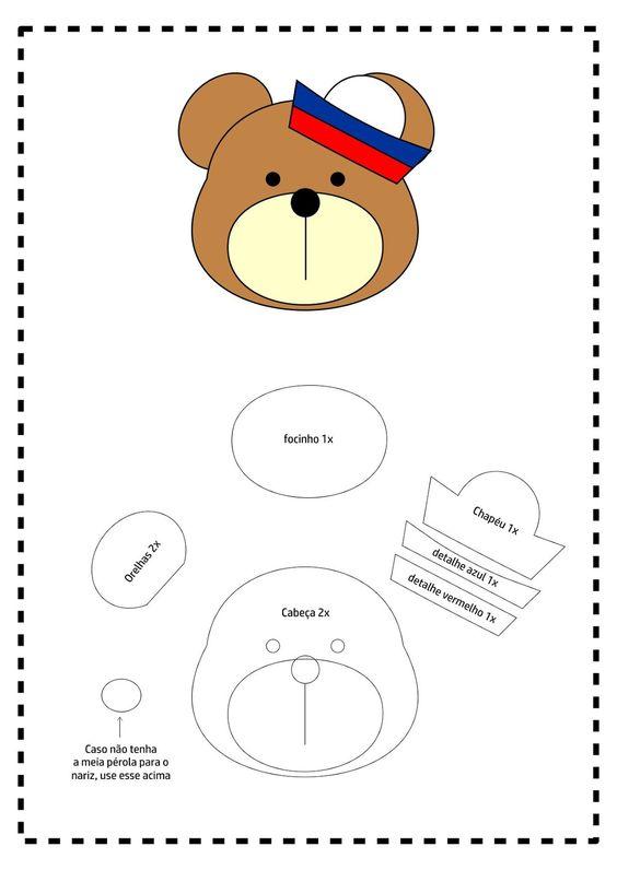 Molde ursinho Marinheiro