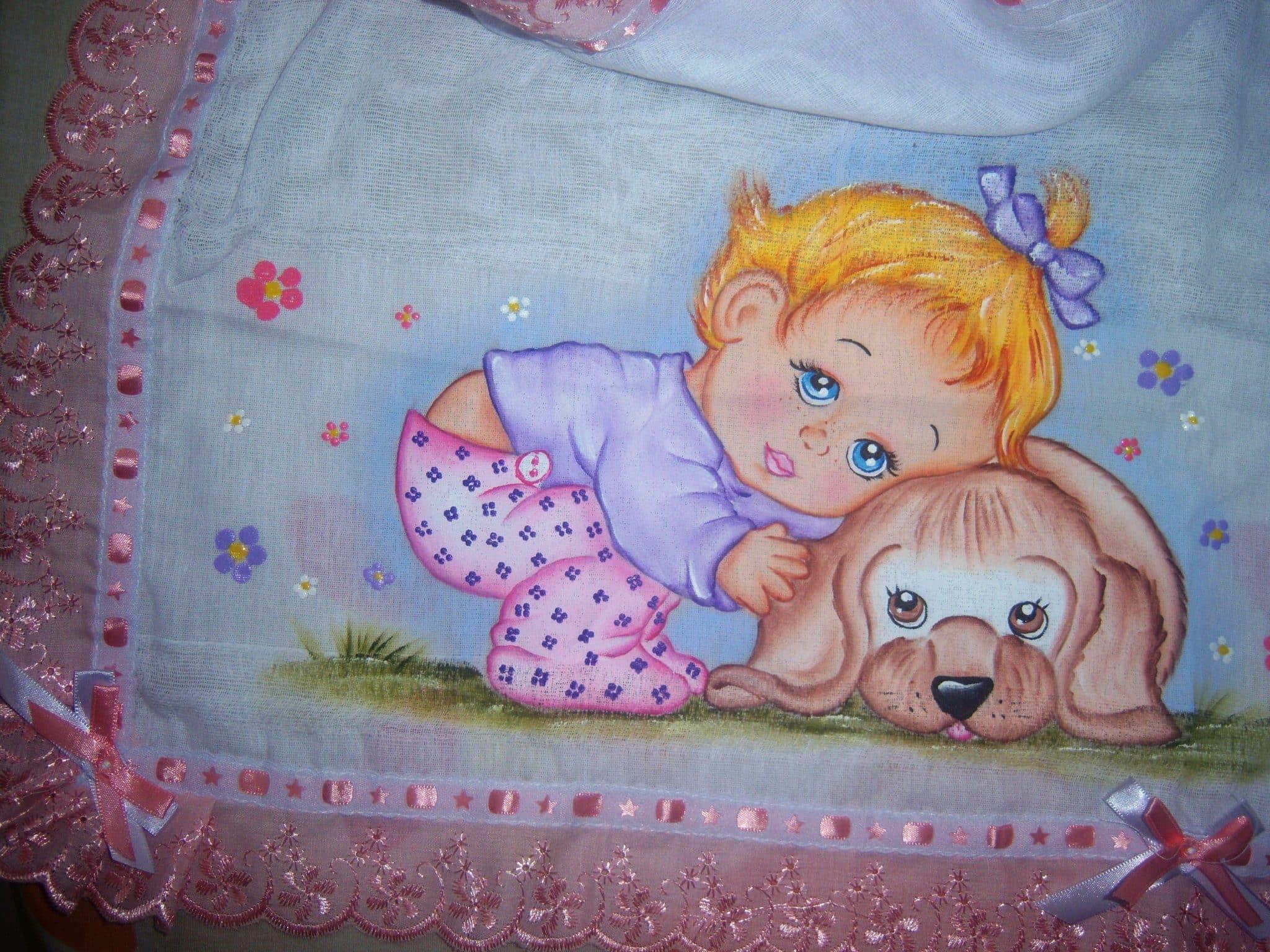 fralda bebe pintura em fraldas
