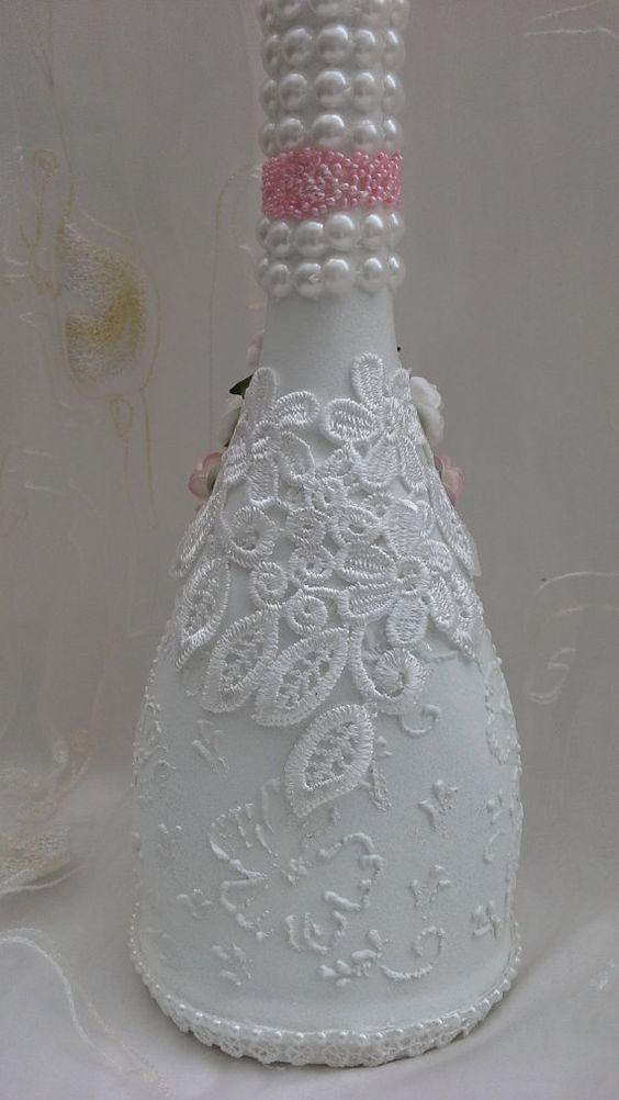 garrafas decoradas com decoupage