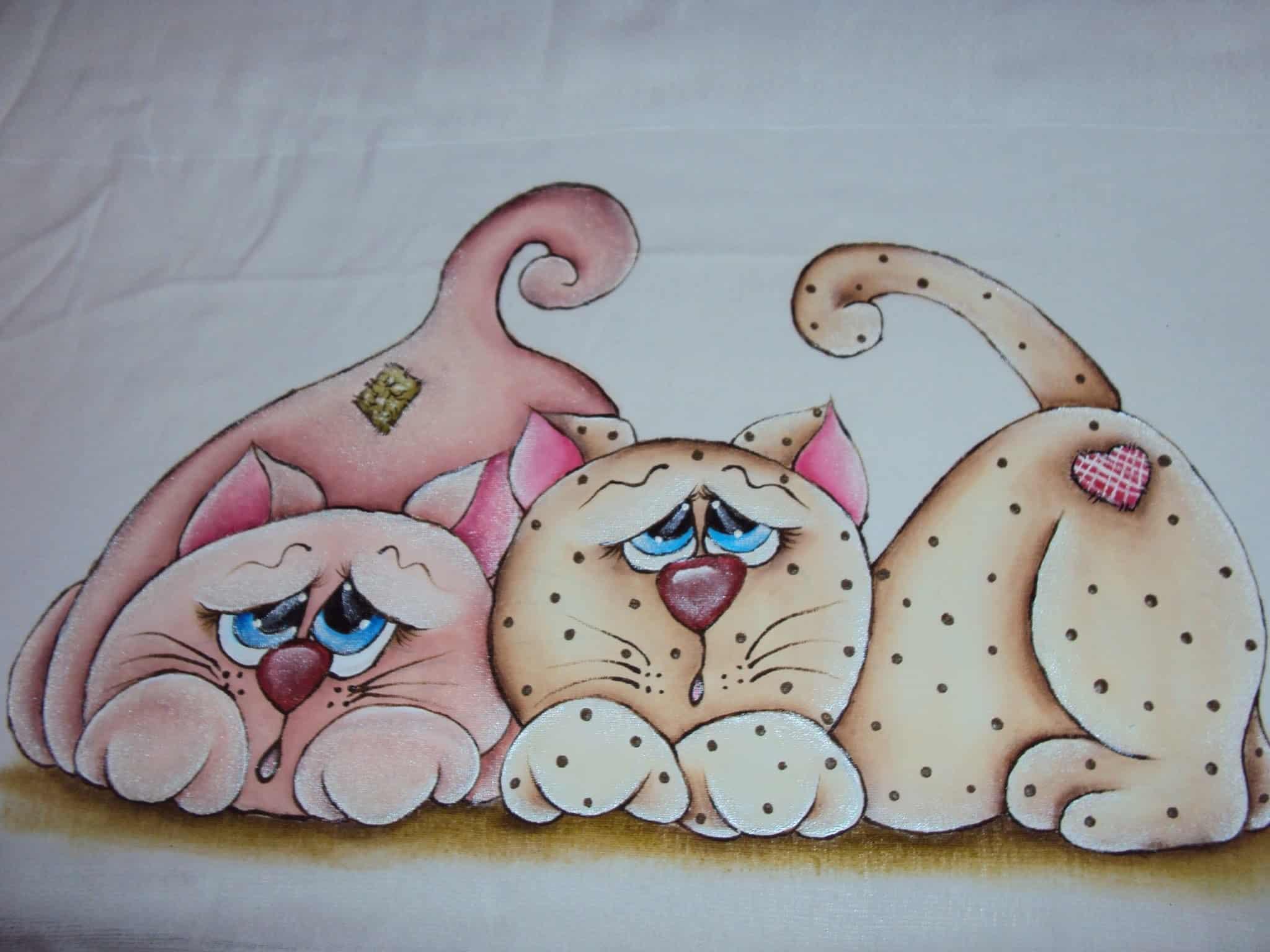 Fraldinha pintada gatinhos