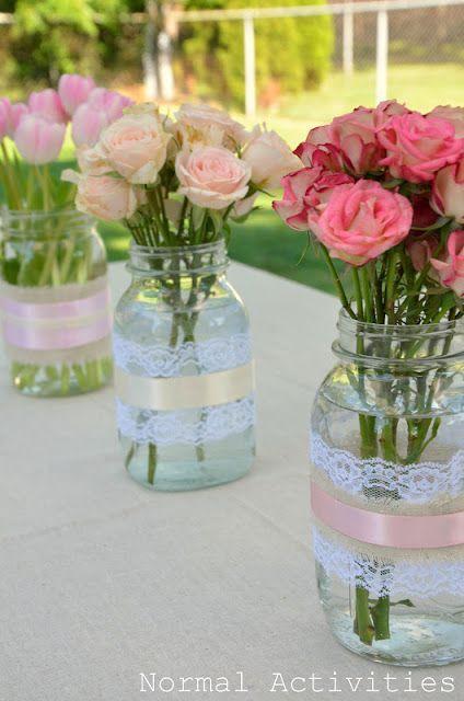 garrafas de vidro decoradas com renda