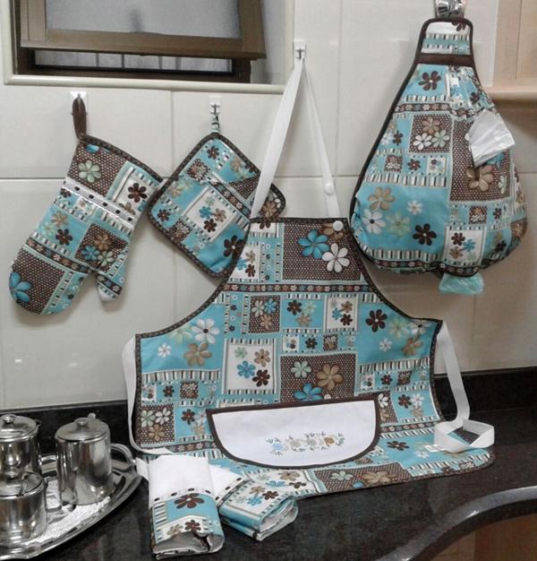 kit de cozinha com avental