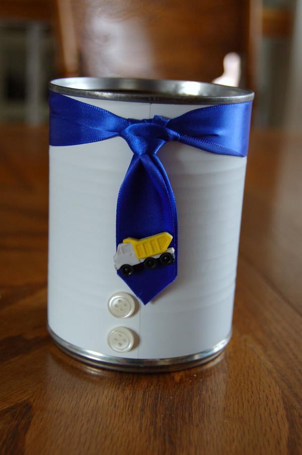 lata reciclada para dia dos pais