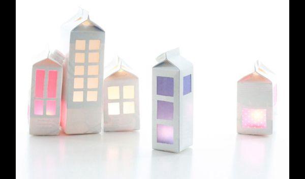luminária infantil de caixa de leite