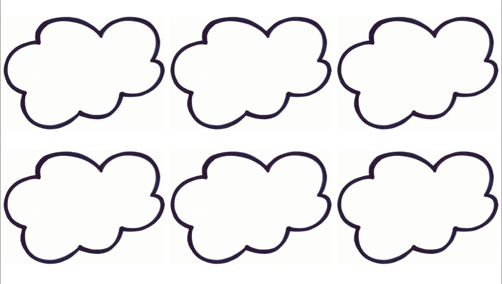 free cloud coloring pages - photo#46