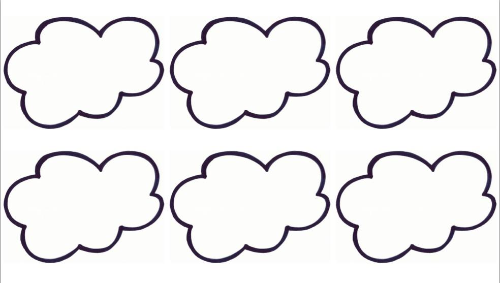 molde de nuvem em feltro para imprimir