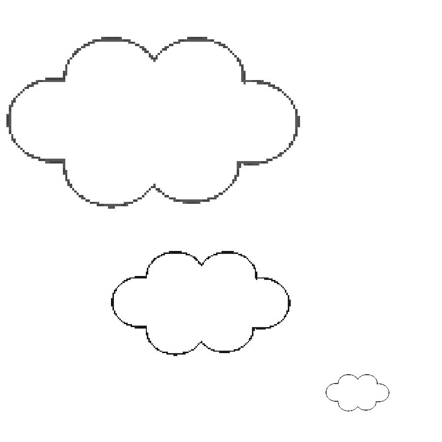 molde de nuvem em eva para imprimir