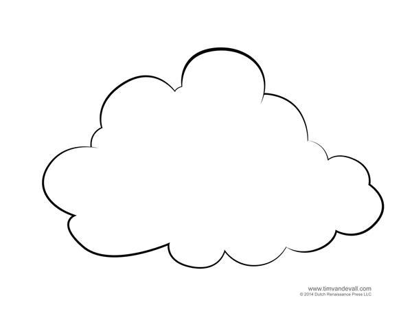 molde de nuvem feltro