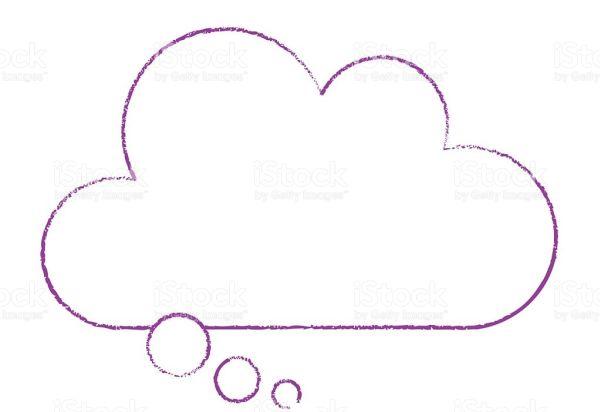 nuvem com base reta