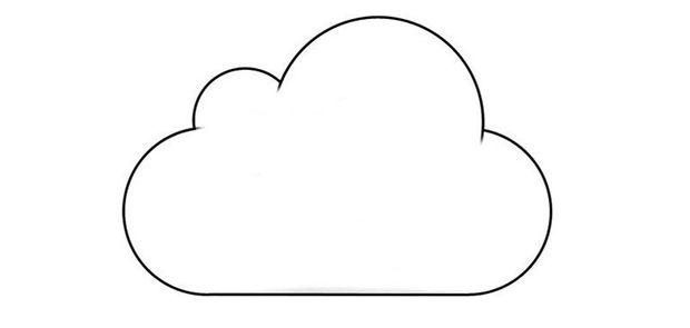 molde de nuvem para imprimir