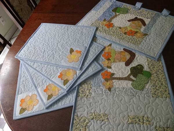 patchwork em jogo de cozinha