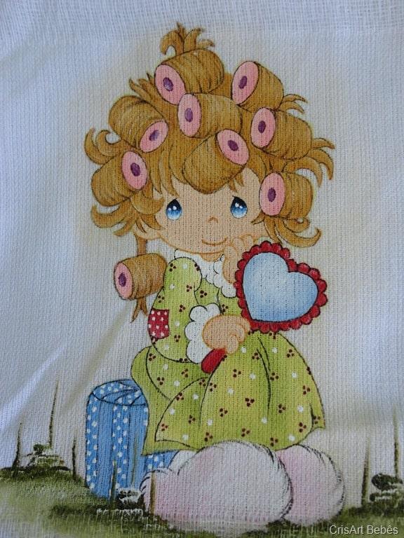 pintura em fralda menininha
