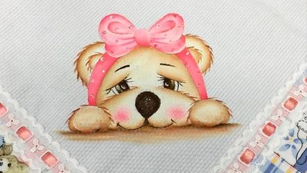 Ursinha carinhosa pintada