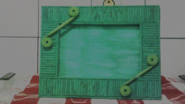 porta retrato de papelão colorido