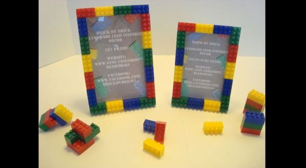 porta retrato de Lego
