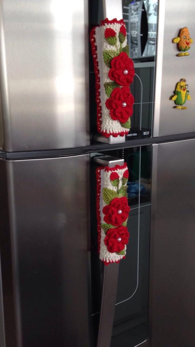 pegador de geladeira em crochê