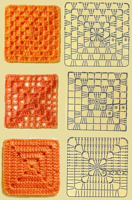 grafico de quadrado de croche para colcha