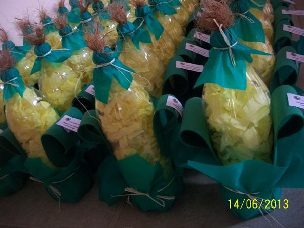 milho de garrafa descartável para festa junina