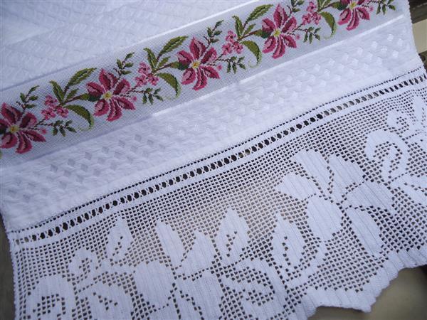 toalha de mesa croche oval