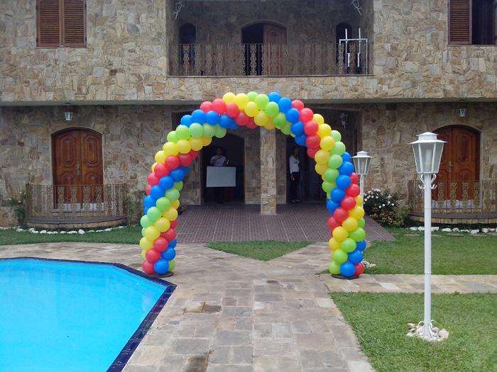arco de balões em espiral