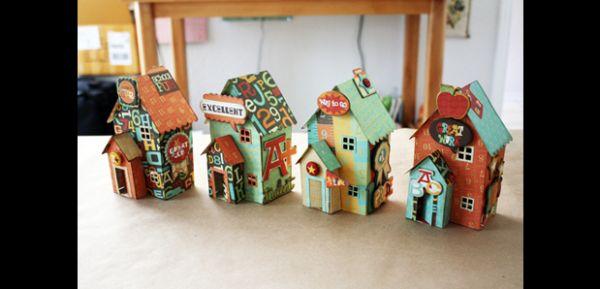 casa de papelão com portinhas