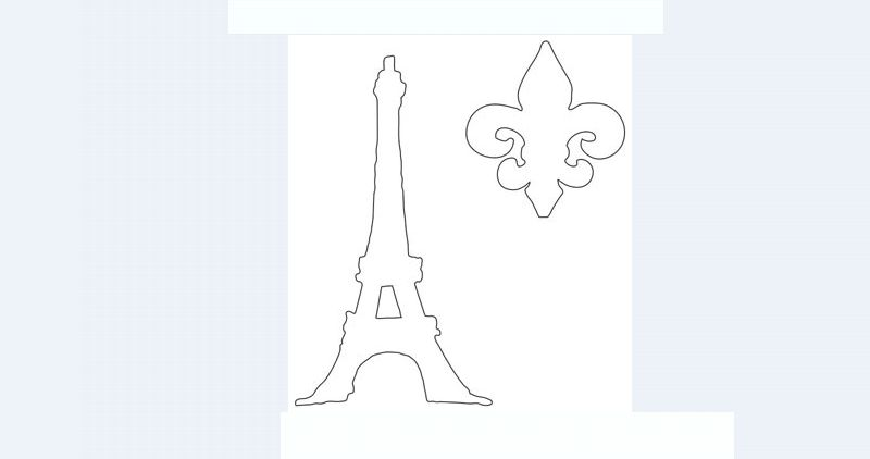 torre Eiffel molde simples