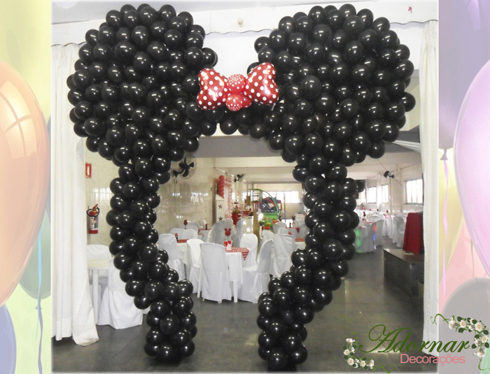arco de balões minie