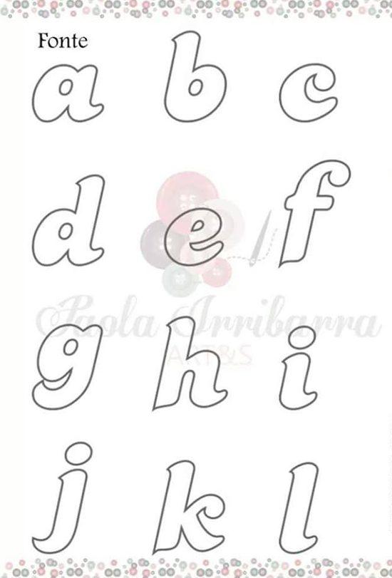 molde de letras a mão