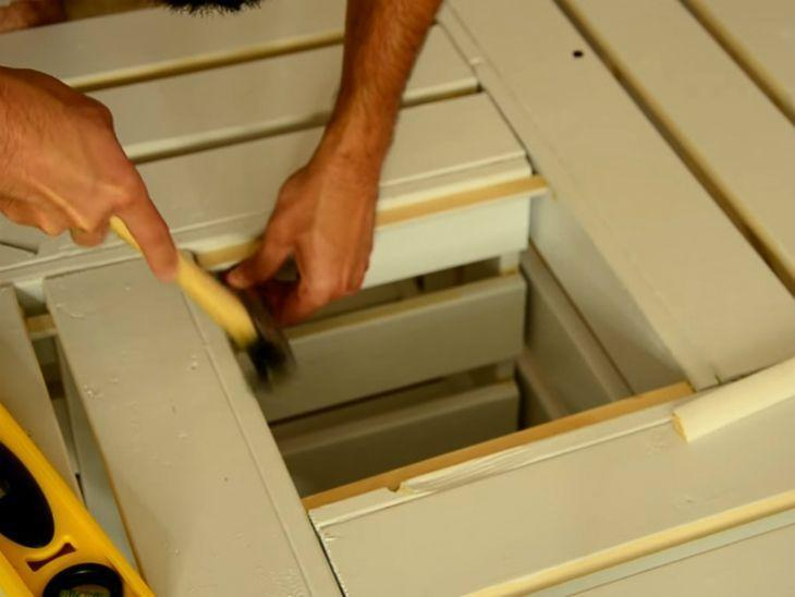 mesa de caixa de madeira como fazer