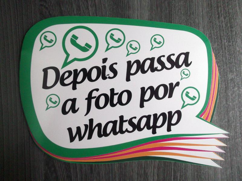 placa para casamento para Whatsapp