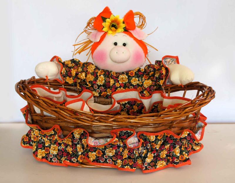cesta decorada com porca