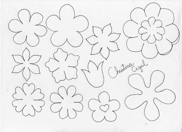 Molde de flores diversas