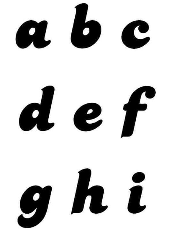 molde de letras minusculas