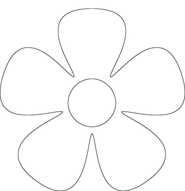 Molde de flor com 5 petalas
