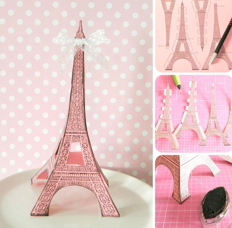 torre Eiffel rosa