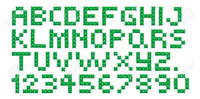 grafico de alfabeto em ponto cruz pequeno