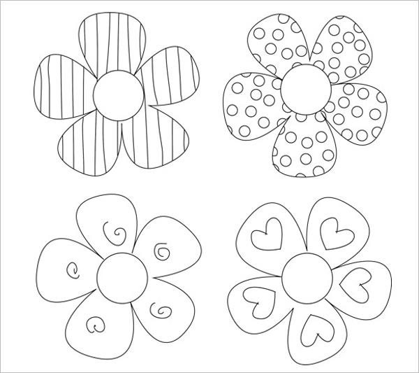 Molde de flores com detalhes