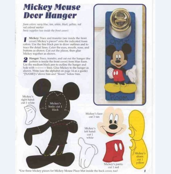 molde do Mickey Mouse para maçaneta