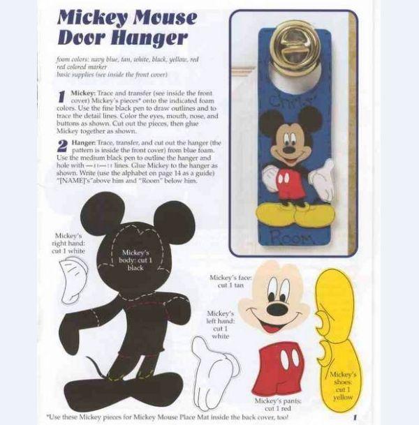 molde do Mickey Mouse para maçaneta