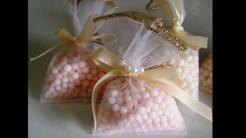 sache perfumado de sagu com tule
