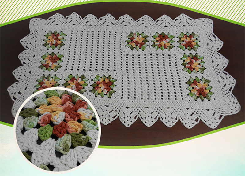 tapete de crochê colorido