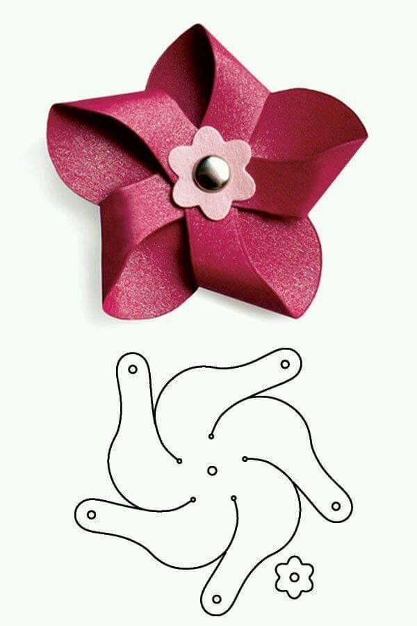 Molde de flor dobrada