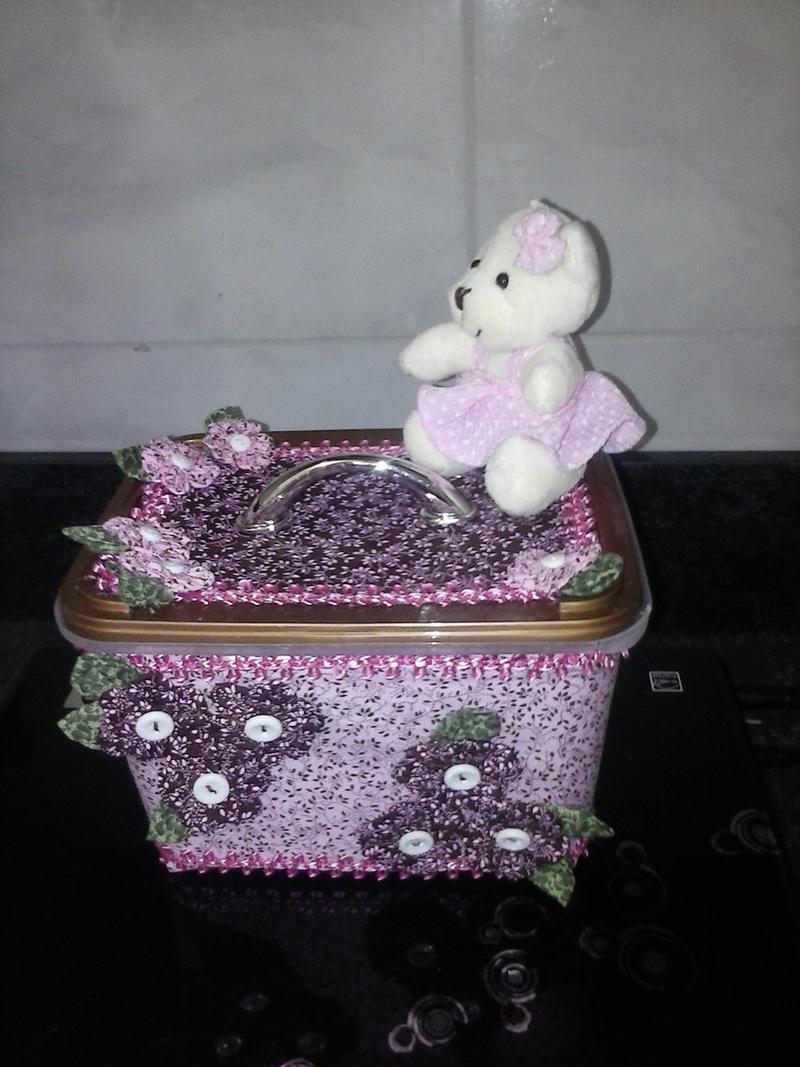 pote de sorvete decorado com ursinho