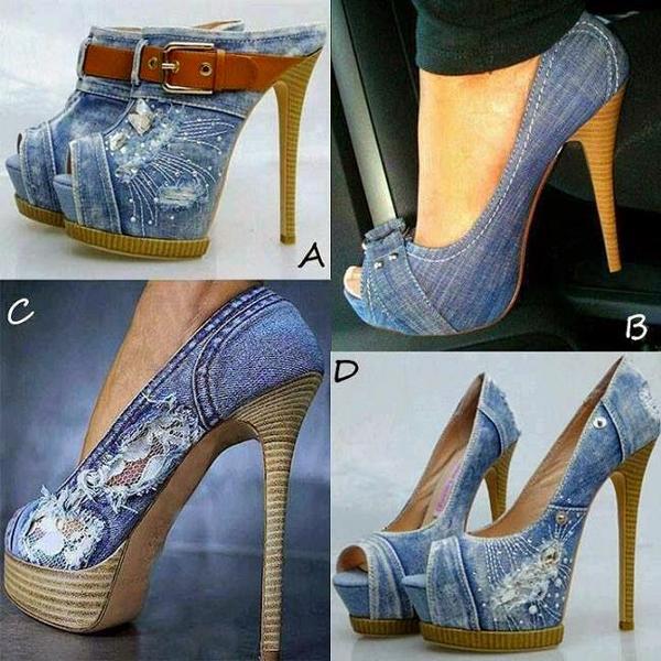 sapato customizado com jeans