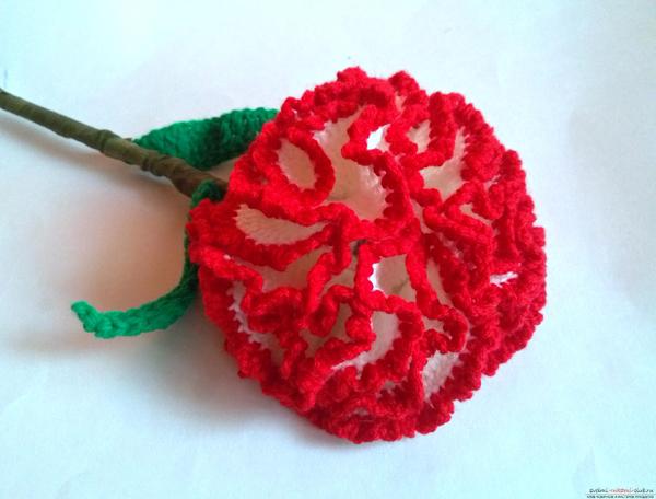 flor de croche repolhuda